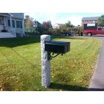 "7""x7""x7' Thermal/rock/prestige bracket mailbox post"